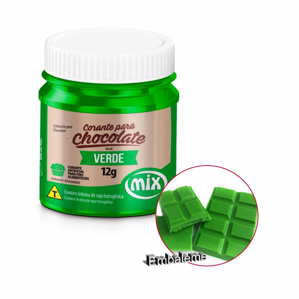 Corante Para Chocolate Verde 12G Mix