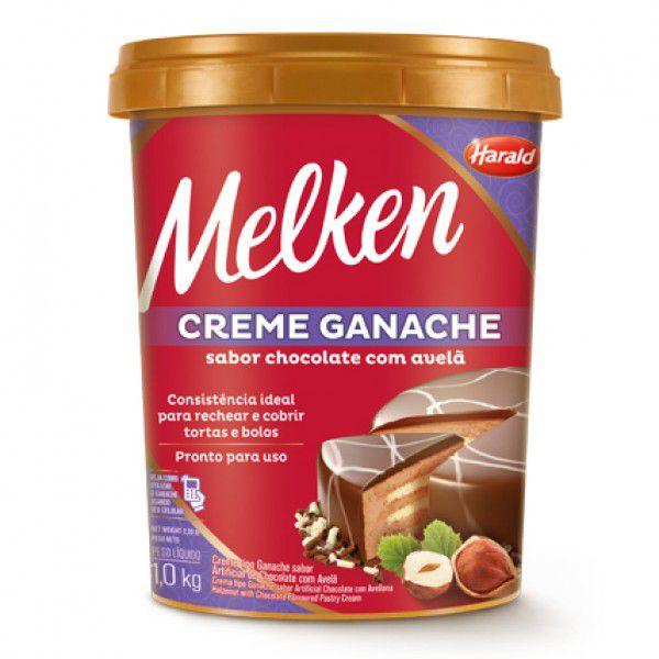 Creme Ganache chocolate com avelã Melken 1,0kg Harald