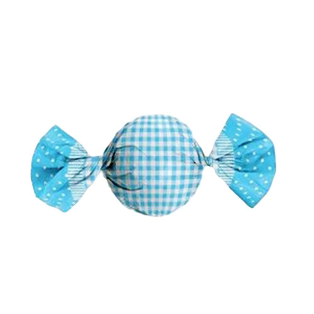 Embalagem para Trufas e Bombons Xadrez Poa Azul c/100 uni 14,5cm x 15,5cm Cromus