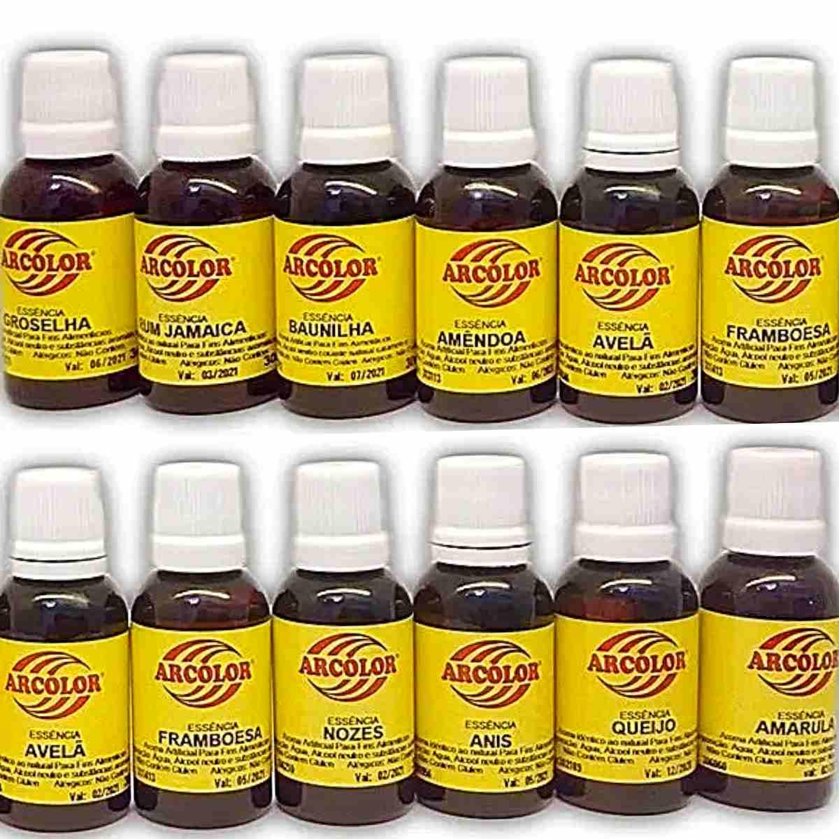 Essência Artificial Comestível 30ml Arcolor Kit 10 Unidades