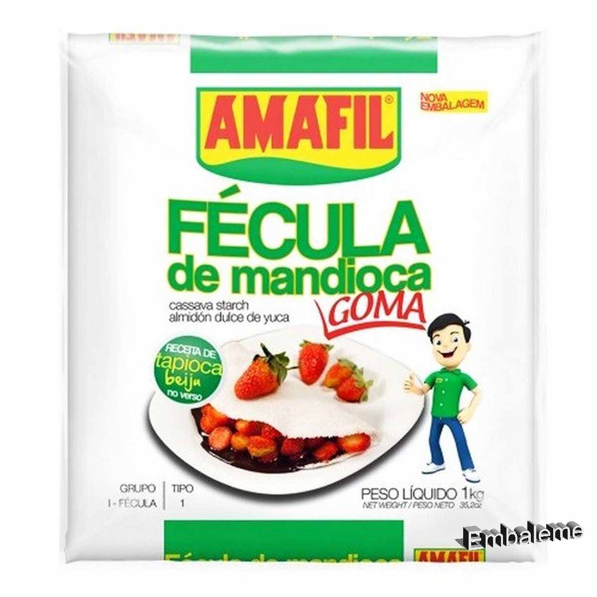 Farinha de Tapioca (Fécula de Mandioca) 1kg Amafil