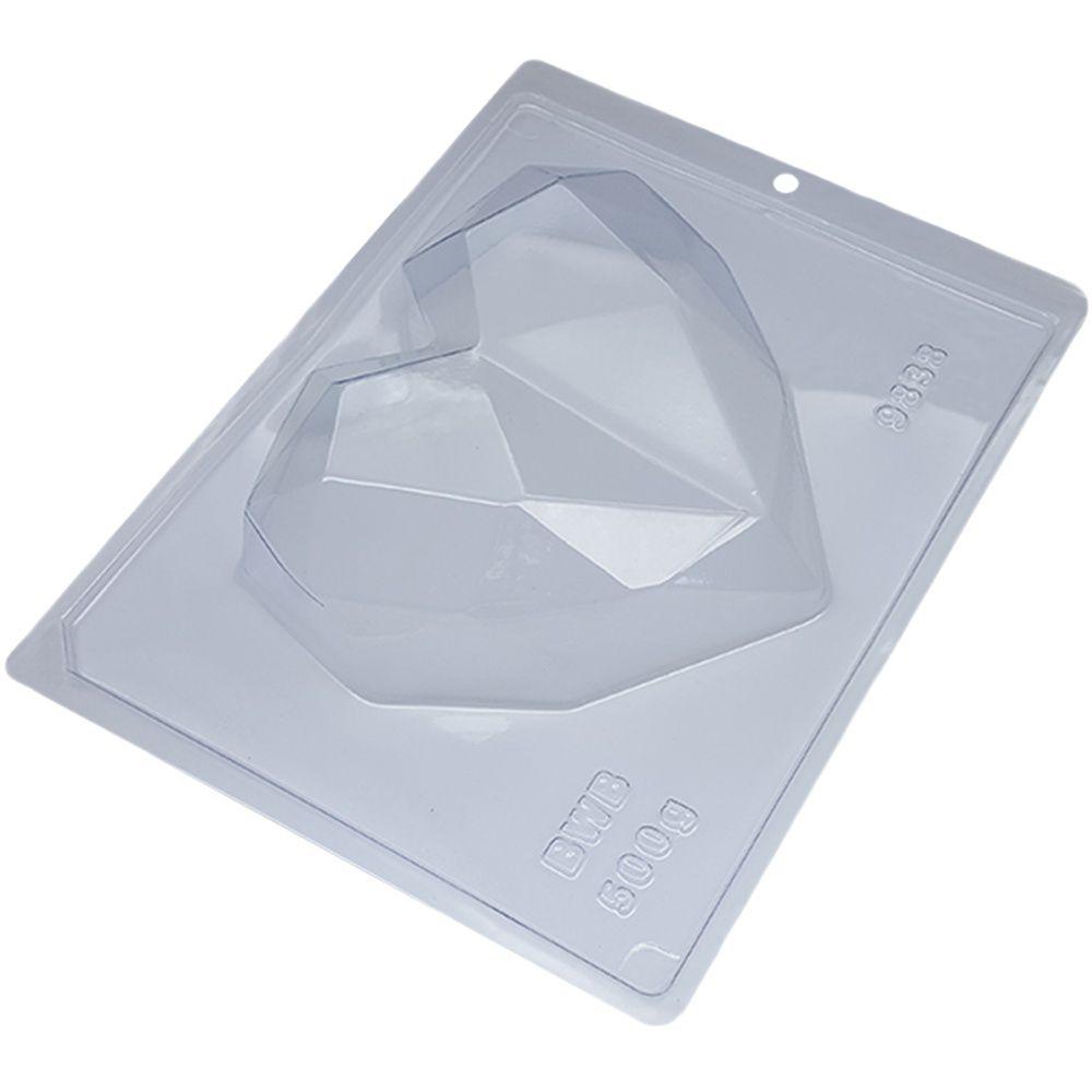 Forma de silicone Coração Lapidado 500g (9838) BWB