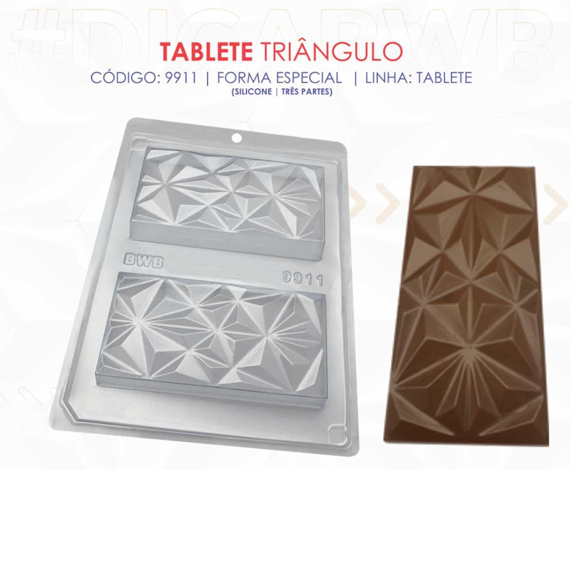 Forma de Silicone tablete triângulo (9911) BWB