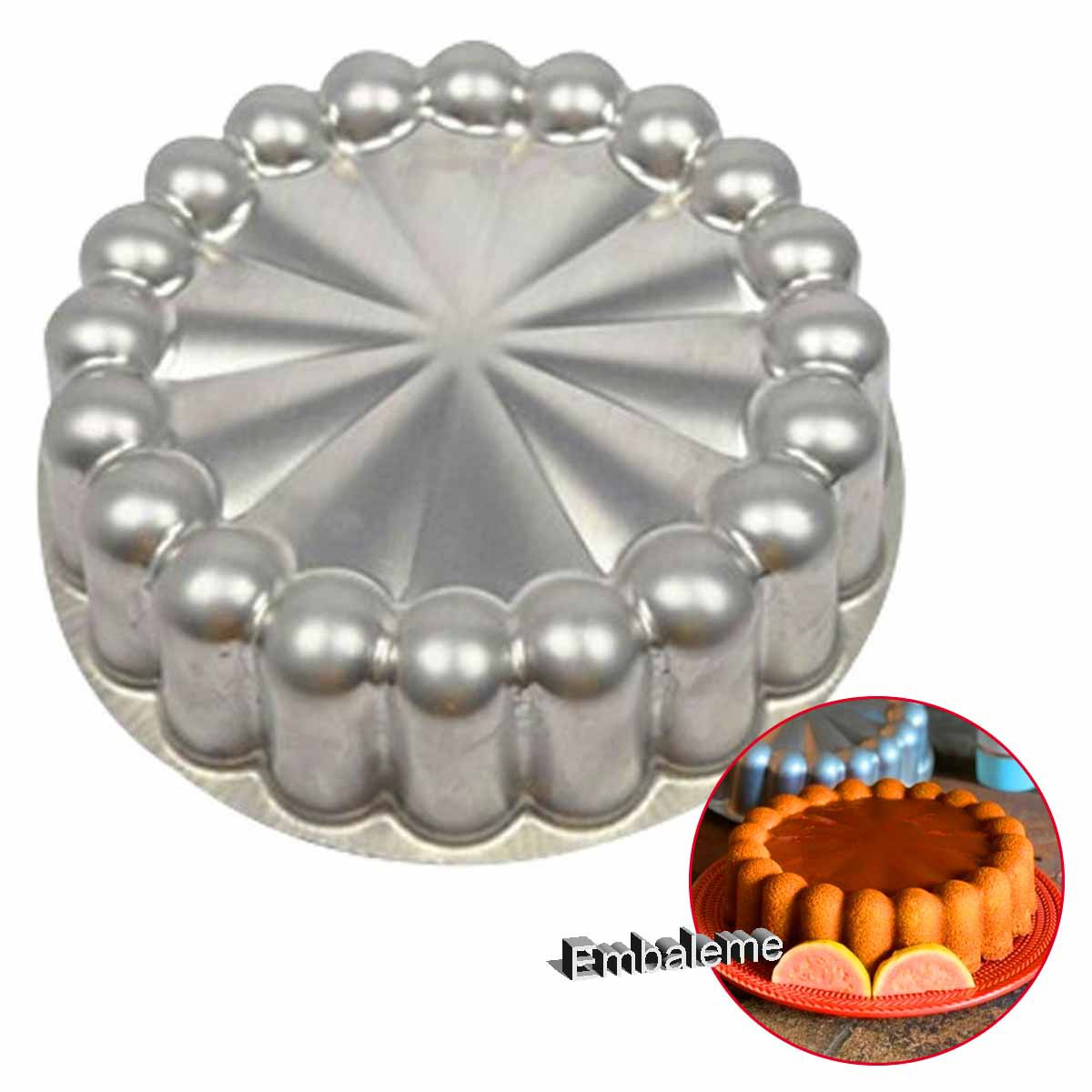 Forma Ballerine decorada alumínio 22x6cm (0796) CAPARROZ