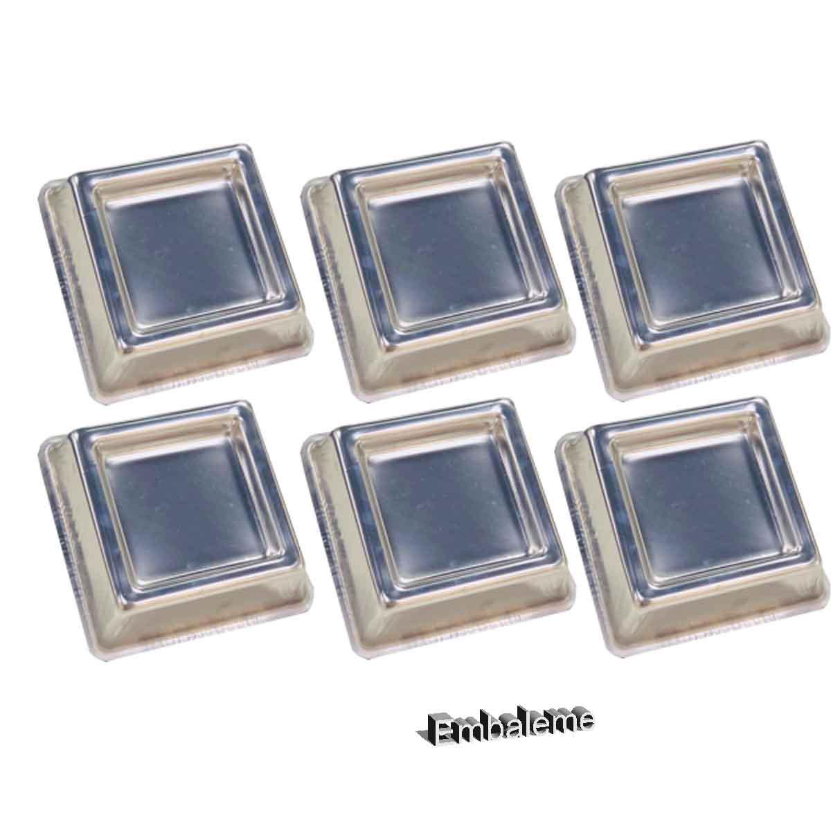 Forma Ballerine Quadrada mini com 6 unidades  9X3,5cm CAPARROZ