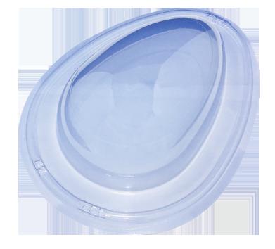 Forma de Silicone Ovo de Páscoa liso 750g BWB