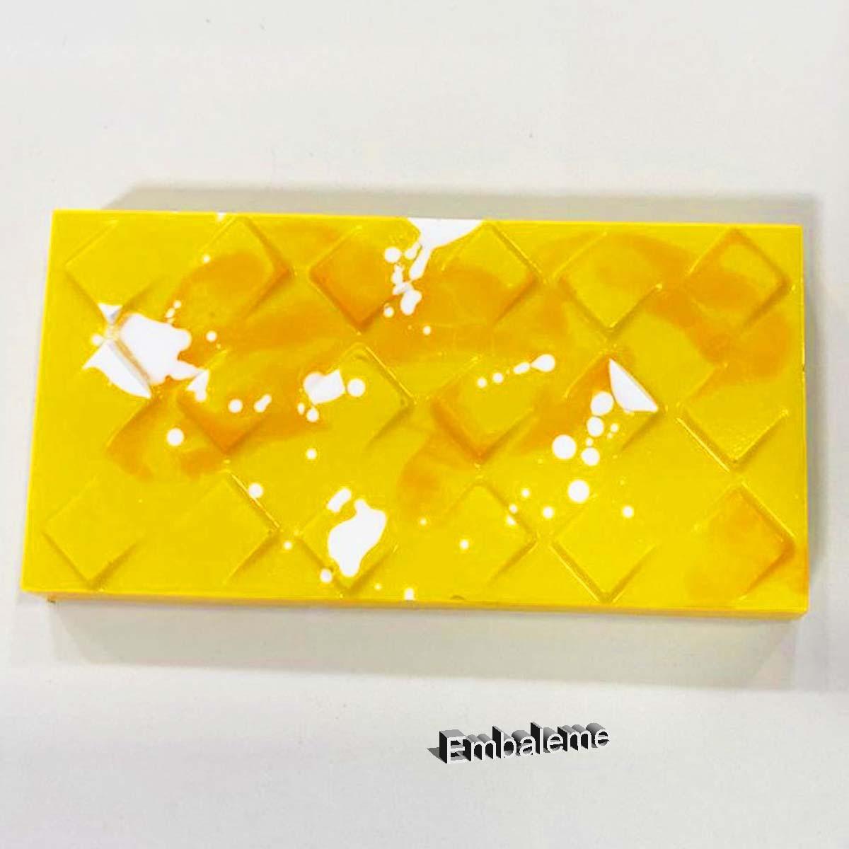 Forma de Silicone Tablete Quadrado Inclinado (9978) BWB