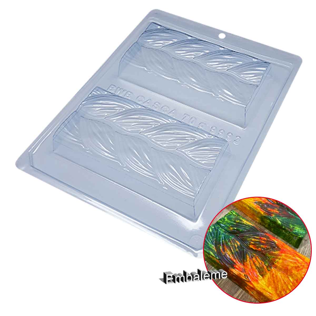 Forma de Silicone Tablete Trançado (9993) BWB