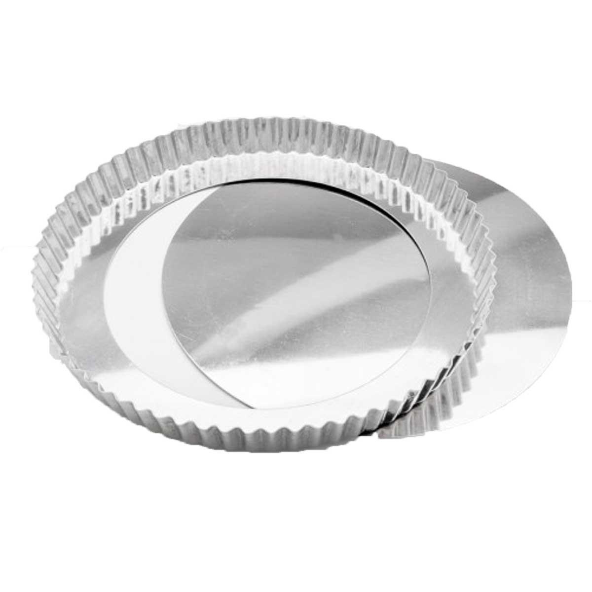 Forma De Torta Crespa Em Alumínio Com Fundo Falso 28cm Caparroz  Cód.0279