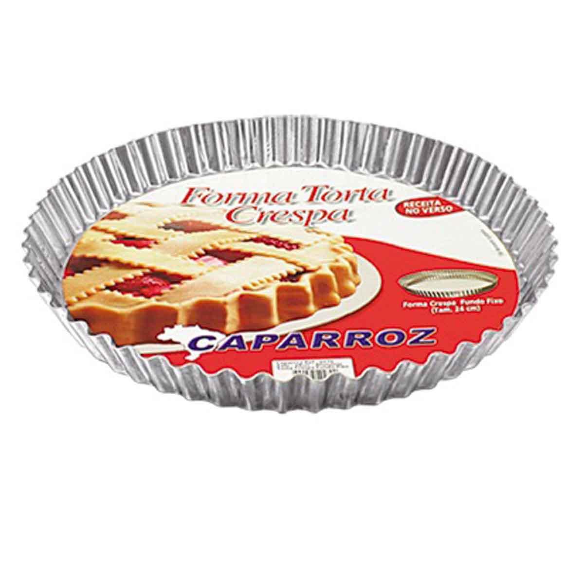 Forma Torta Crespa Com Fundo Fixo 24cm Caparroz  Cód.0270
