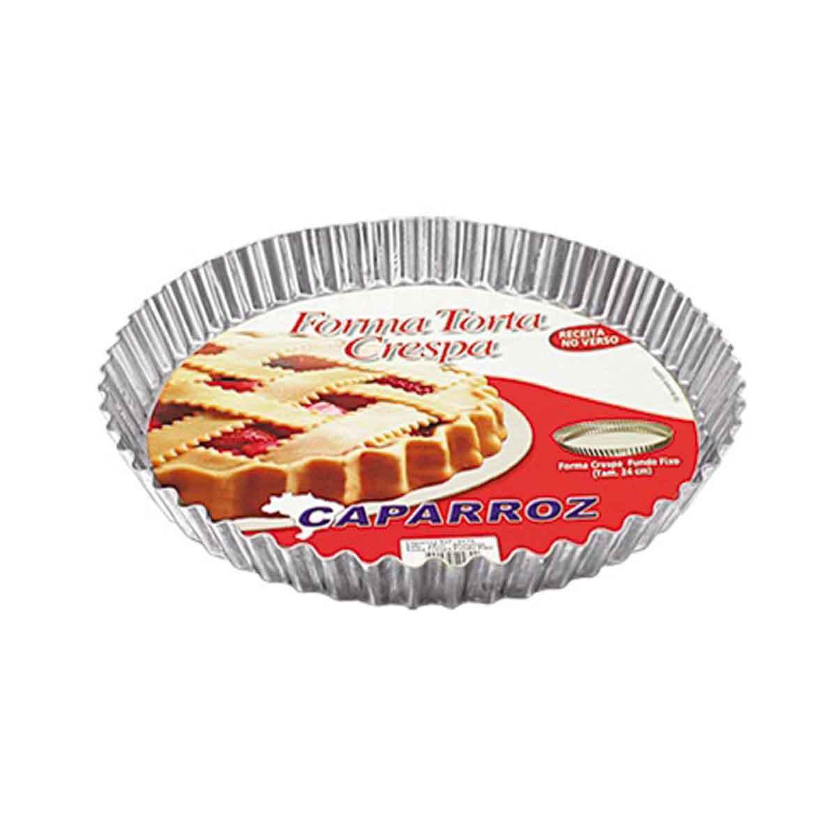 Forma Torta De Alumínio Crespa C/ Fundo Falso 20cm Caparroz Cód. 0277