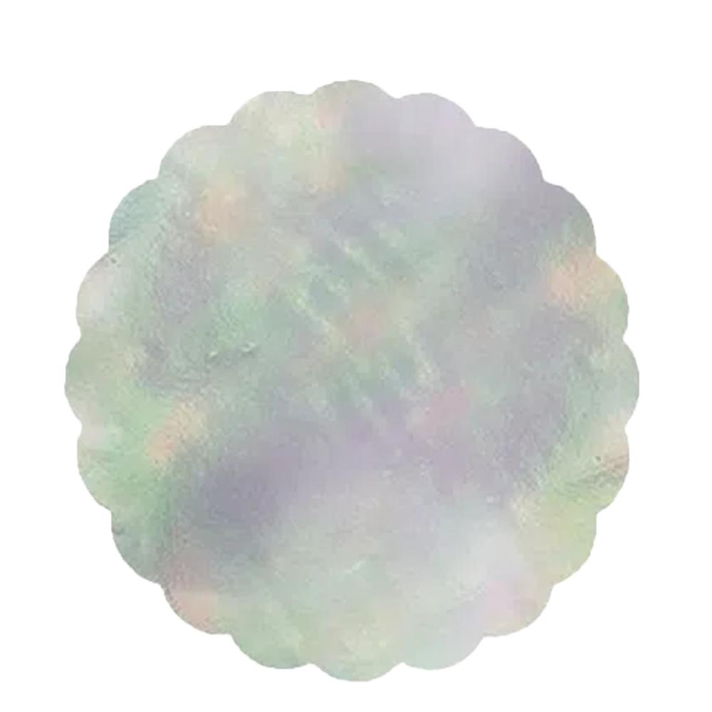 Fundo de forminhas 7 cm Nacarado c/100 Cromus