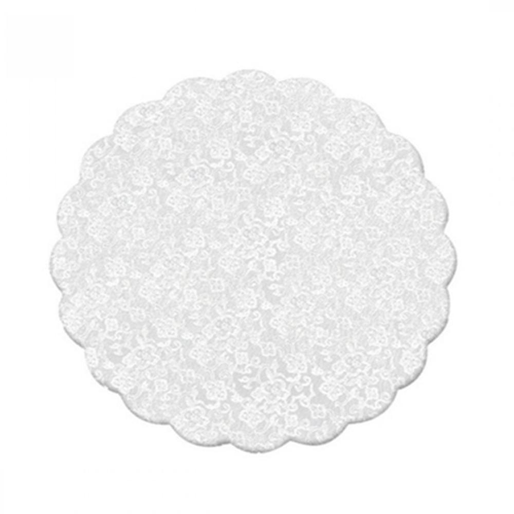 Fundo de forminhas 9 cm Rendado Branco c/100 Cromus