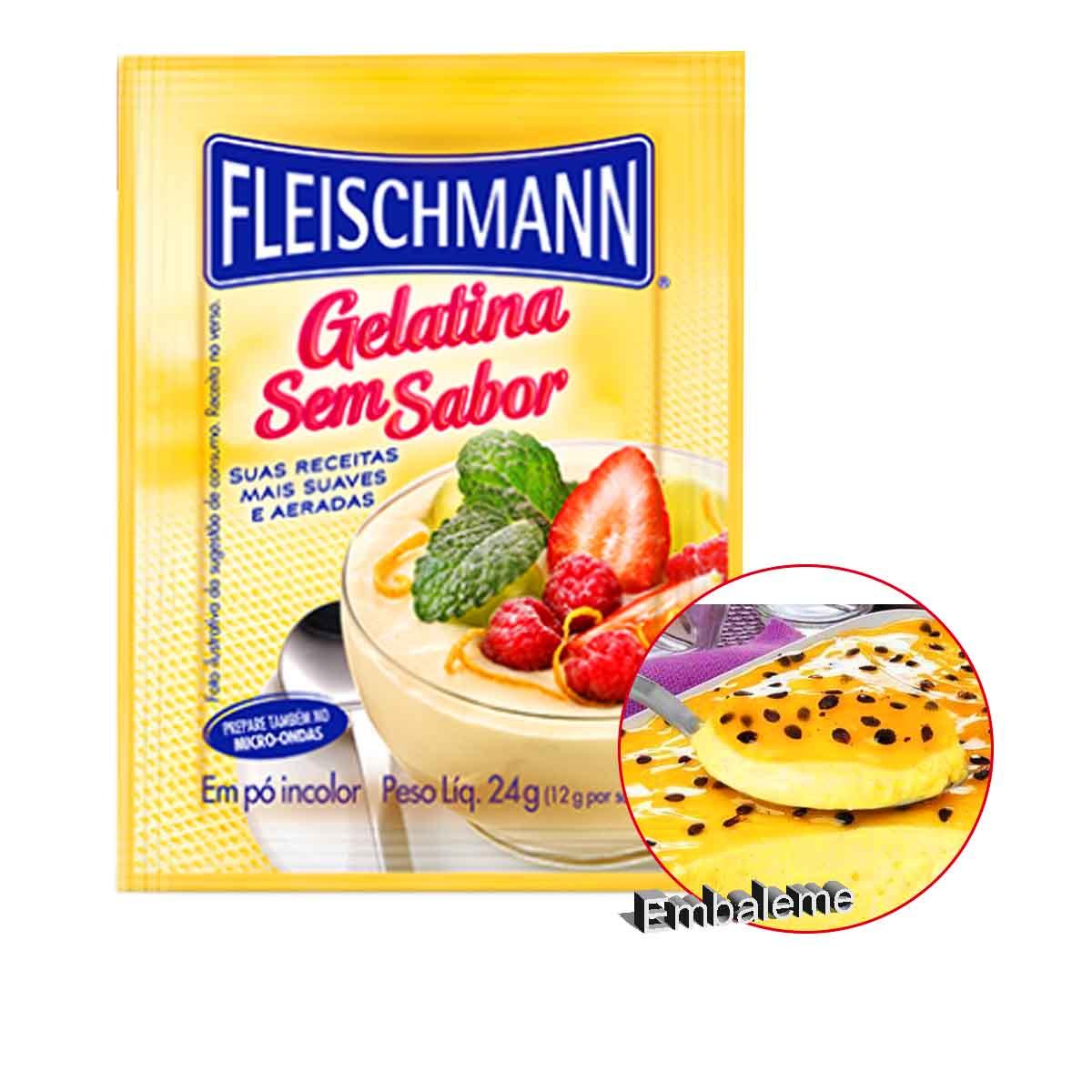 Gelatina Sem Sabor 24g Fleischmann