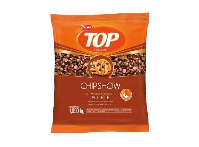 Gotas Forneáveis Cobertura Sabor Chocolate Ao Leite 1,05kg Chipshow Harald