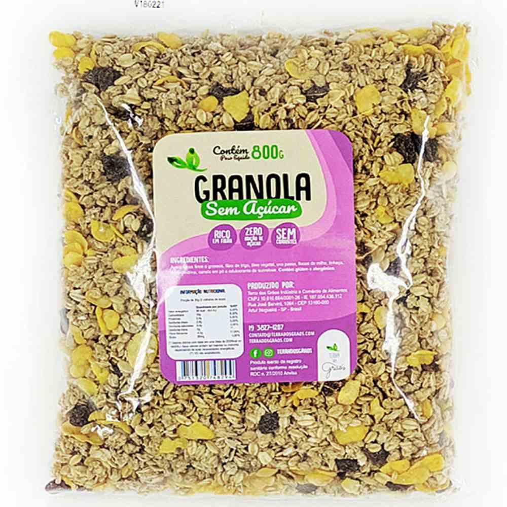 Granola sem Açúcar 800g Terra dos Grãos