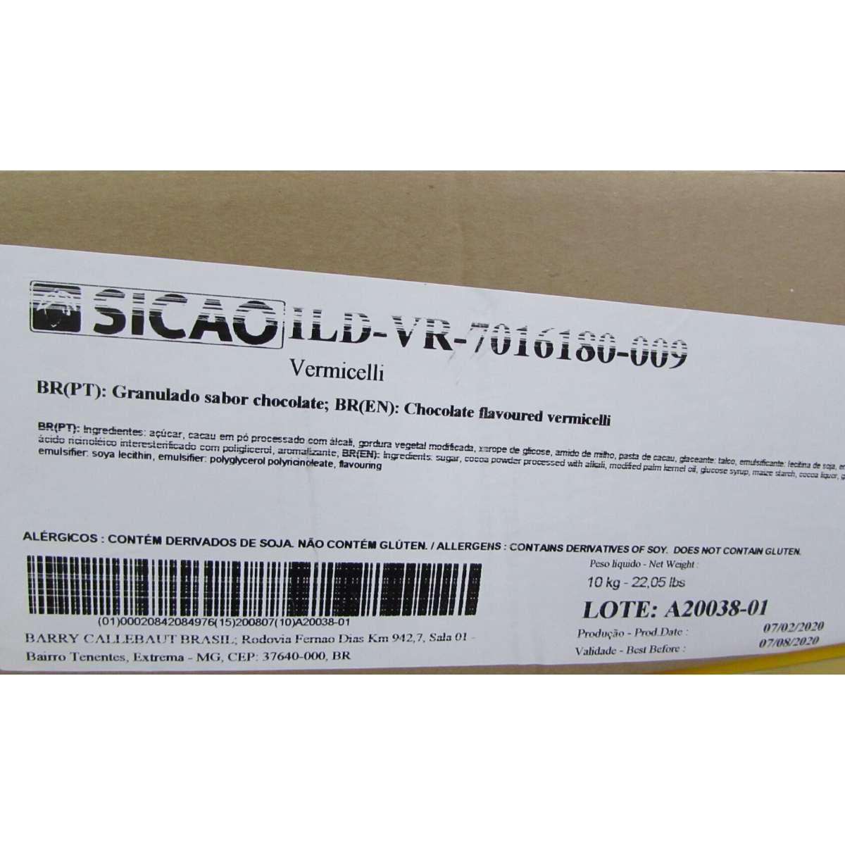 Granulado Sicao crocante Dark 10KG - Caixa econômica