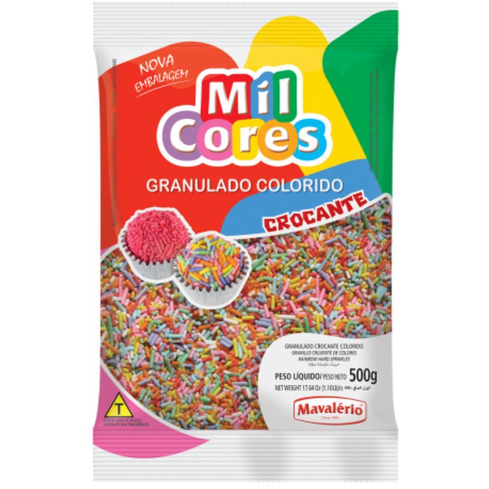Granulado Crocante Colorido 500g Mil Cores