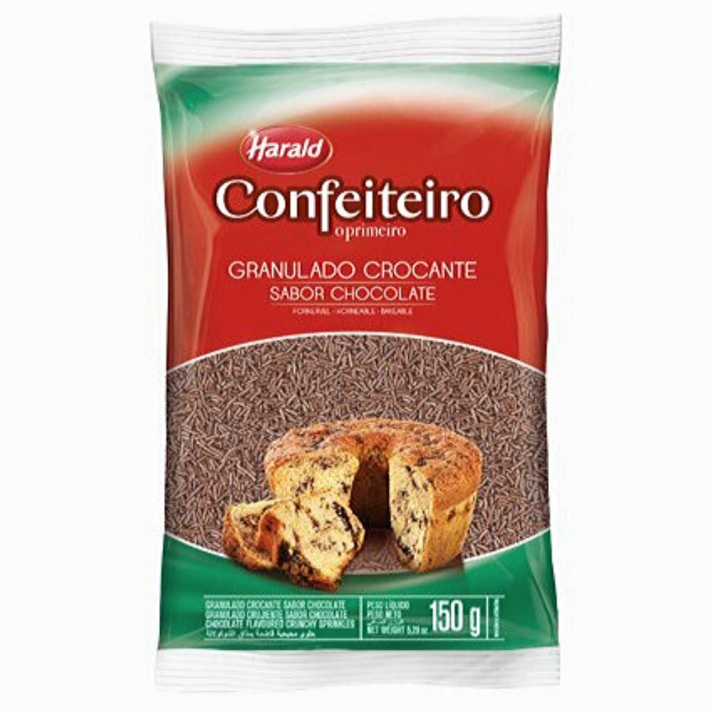 Granulado Crocante Confeiteiro Sabor Chocolate 150g Harald