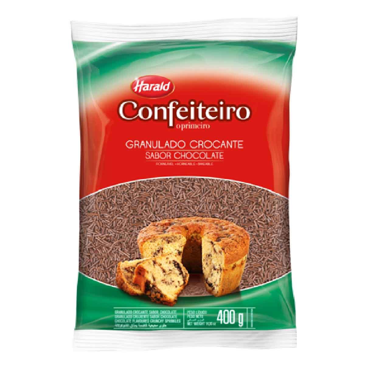 Granulado Crocante sabor Chocolate Confeiteiro 400g Harald