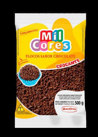 Granulado Flocos Chocolate Forneável 500g Mil Cores