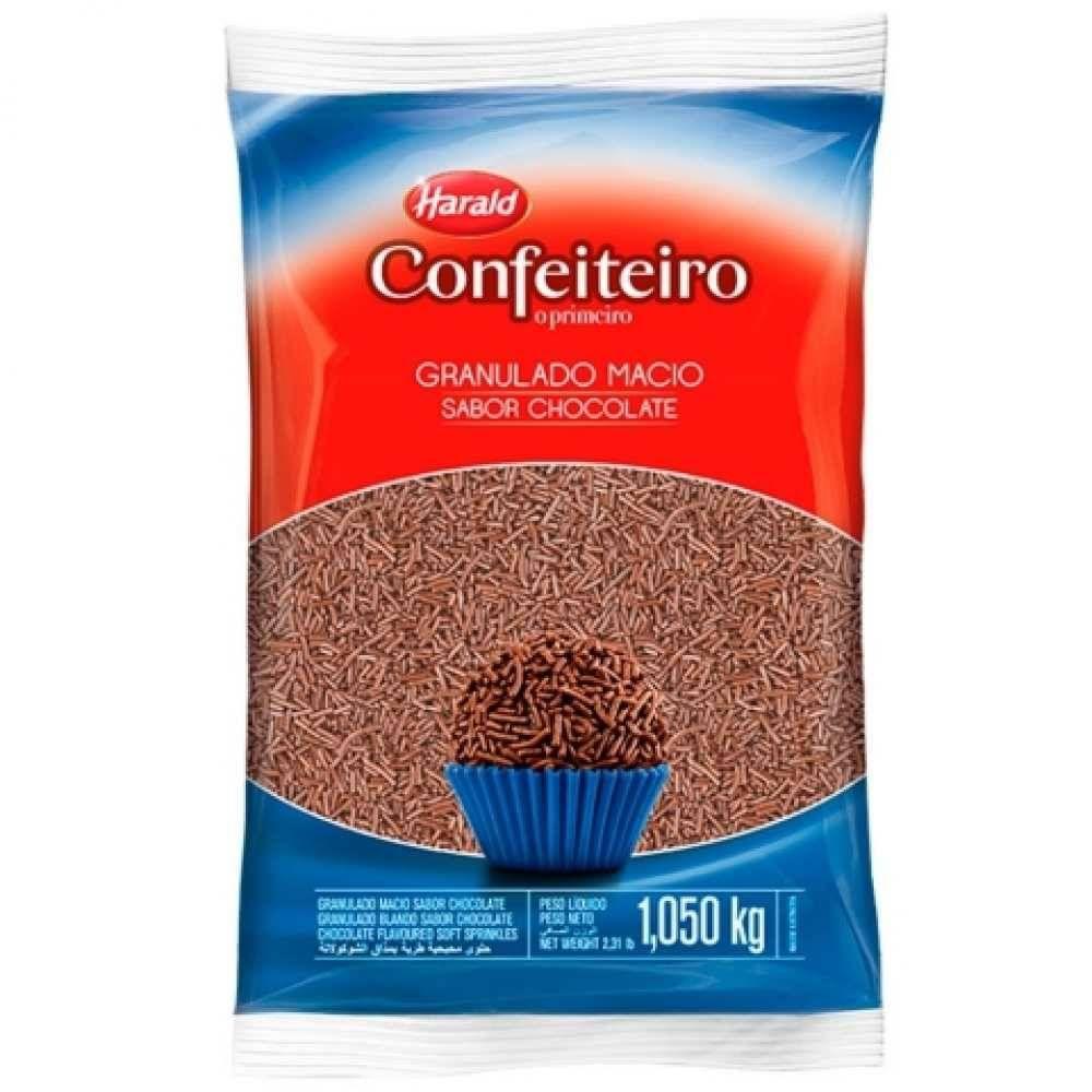 Granulado Macio sabor Chocolate 1.05kg Confeiteiro  Harald