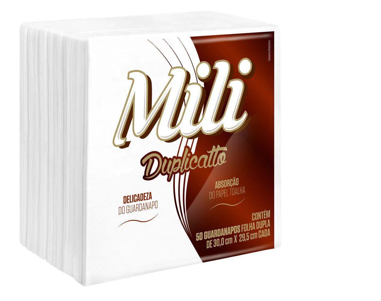 Guardanapo de papel Mili Duplicatto Branco 30cm x 29,5cm c/50 folhas