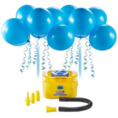 Inflador de Balões Kit c/16 Balões Azul Autocolantes Com Adaptador Regina