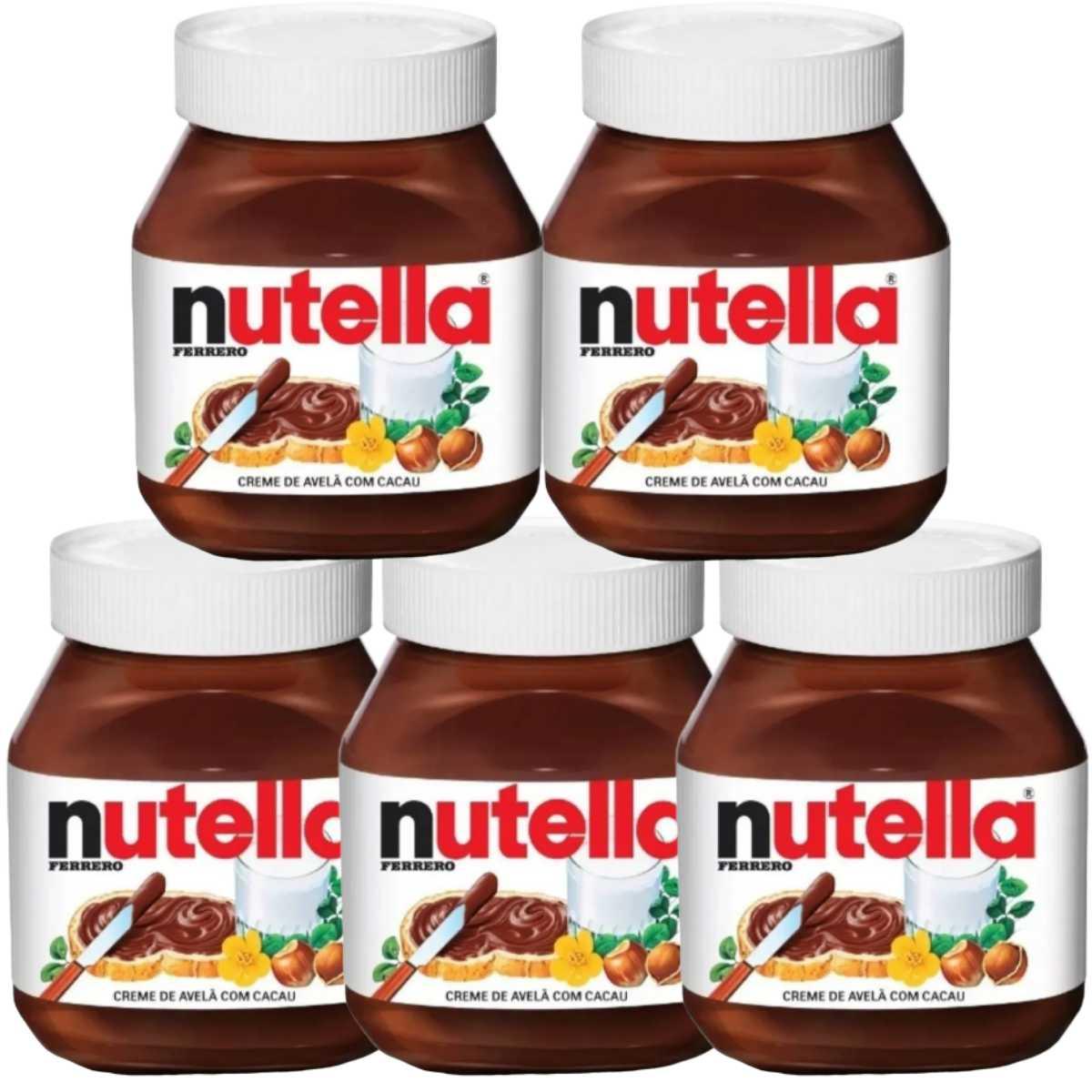 Kit 5 Nutella 140g Potinho Creme de Avelã