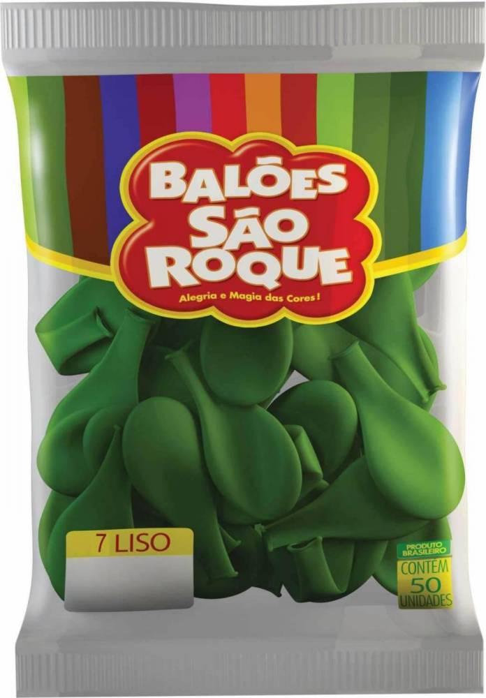 Kit Balões São Roque N°7 Bexiga com 10 Pacotes C/50 Unidades