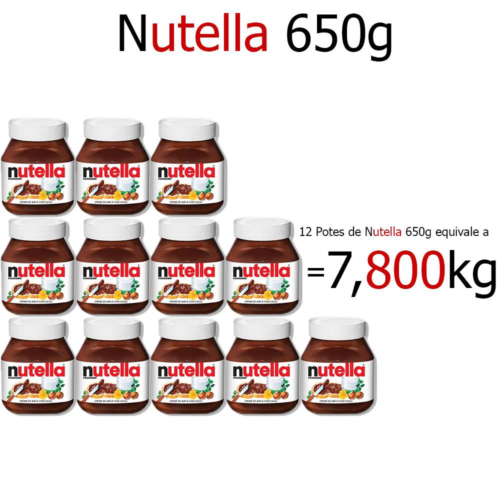 Kit Nutella 650g c/12 Ferrero