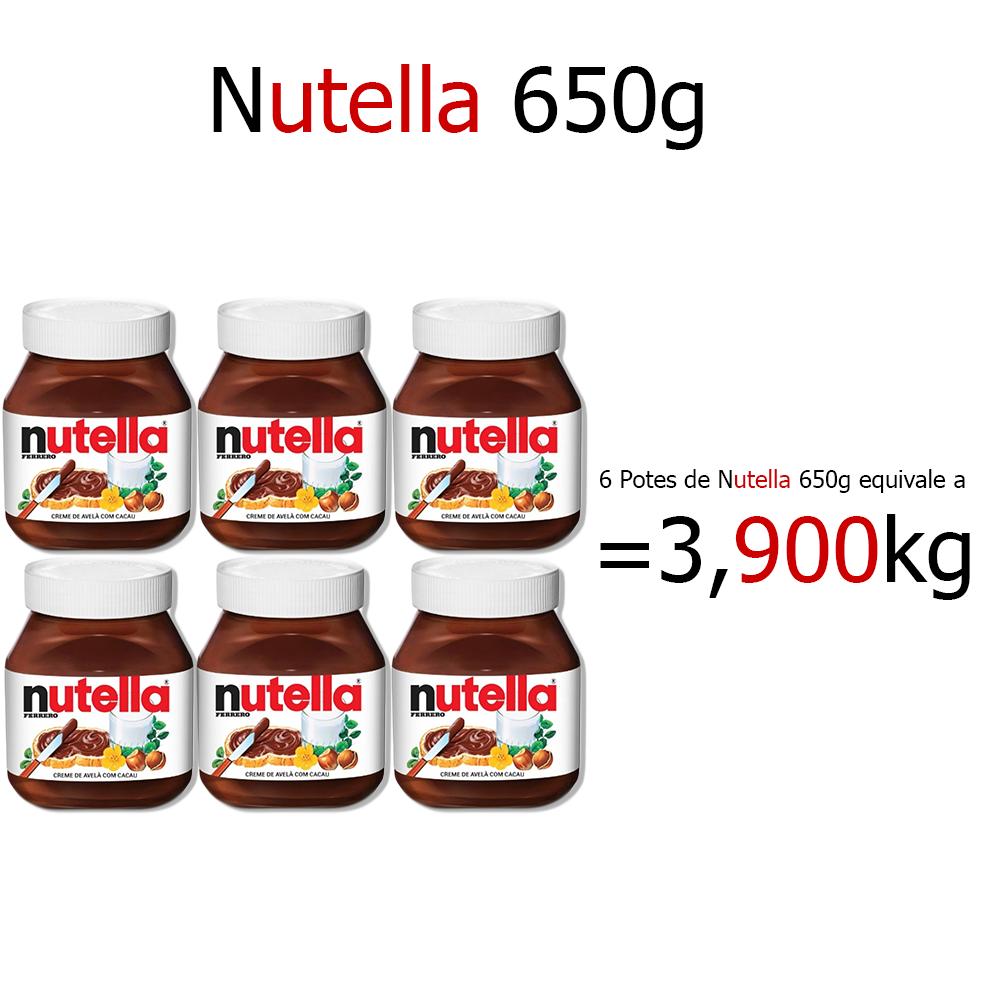 Kit Nutella 650g c/6 Ferrero