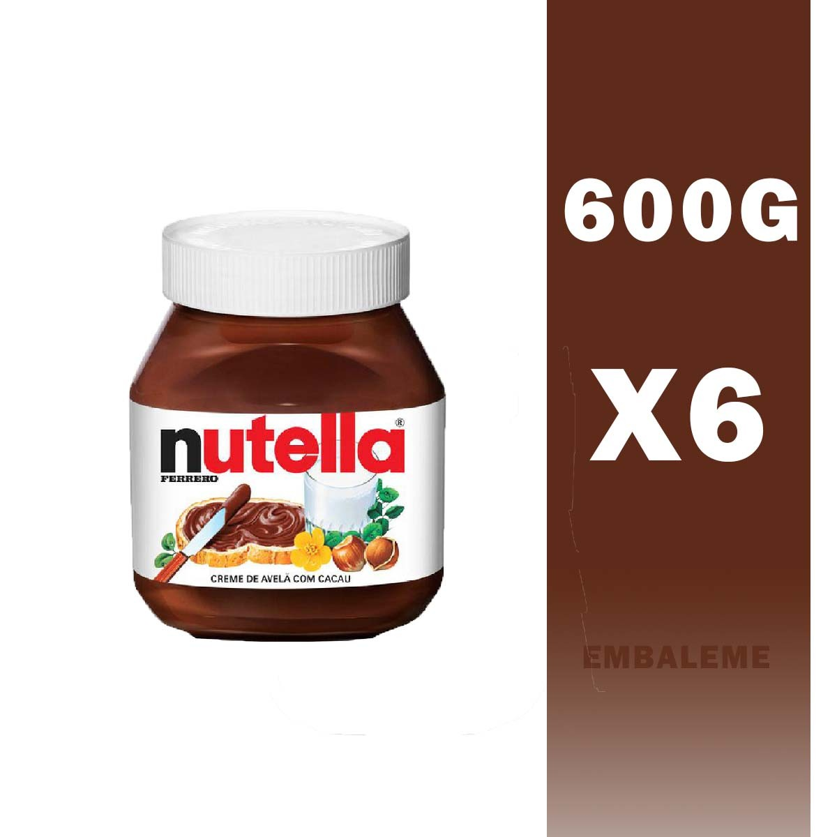Kit Nutella 650g Ferrero Com 6 Unidades