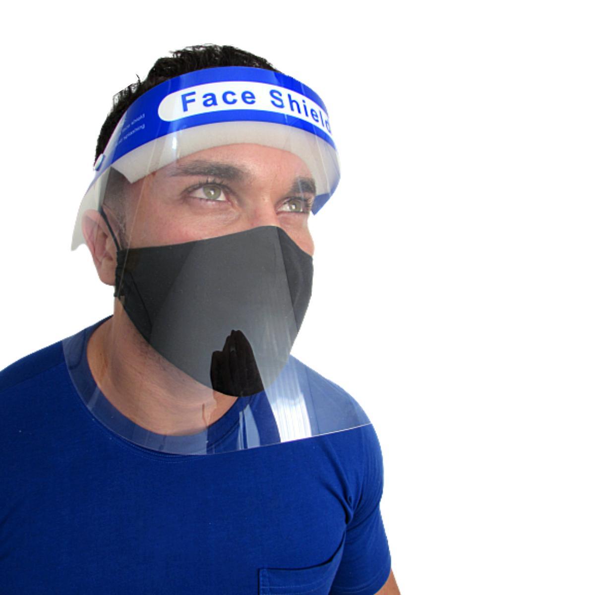Mascara de Acetato Protetor facial com espuma confortável Face Shield
