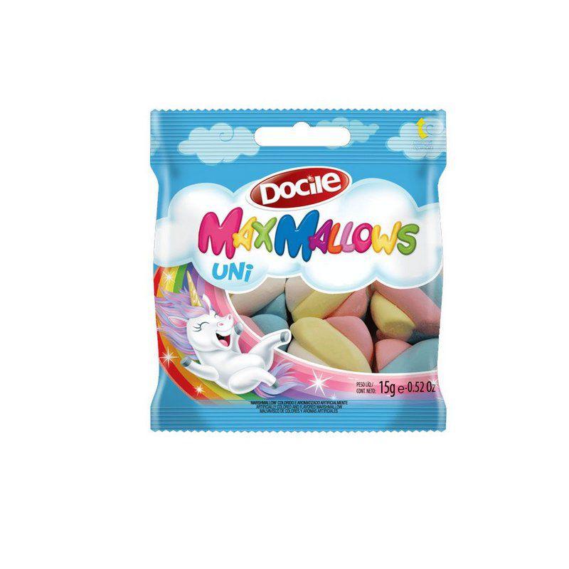 Maxmallows Twist Colorido Baunilha Unicórnio Caixa 14x15g