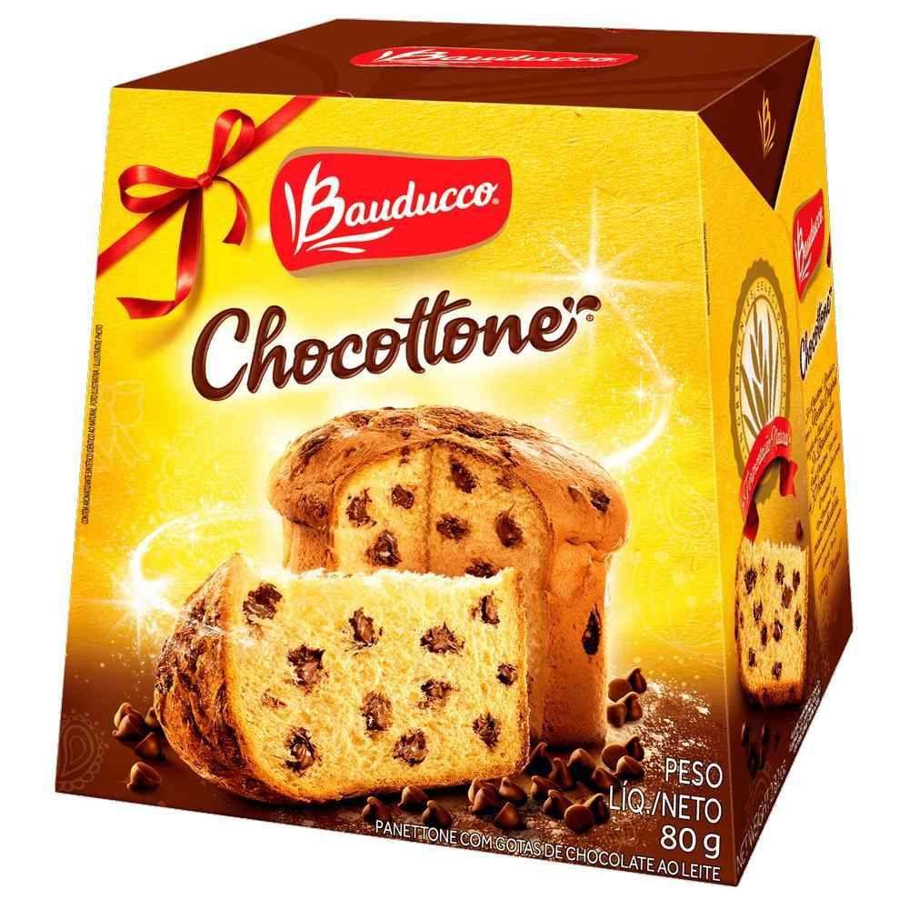 Mini Panetone de Chocolate Chocottone 80g Bauducco