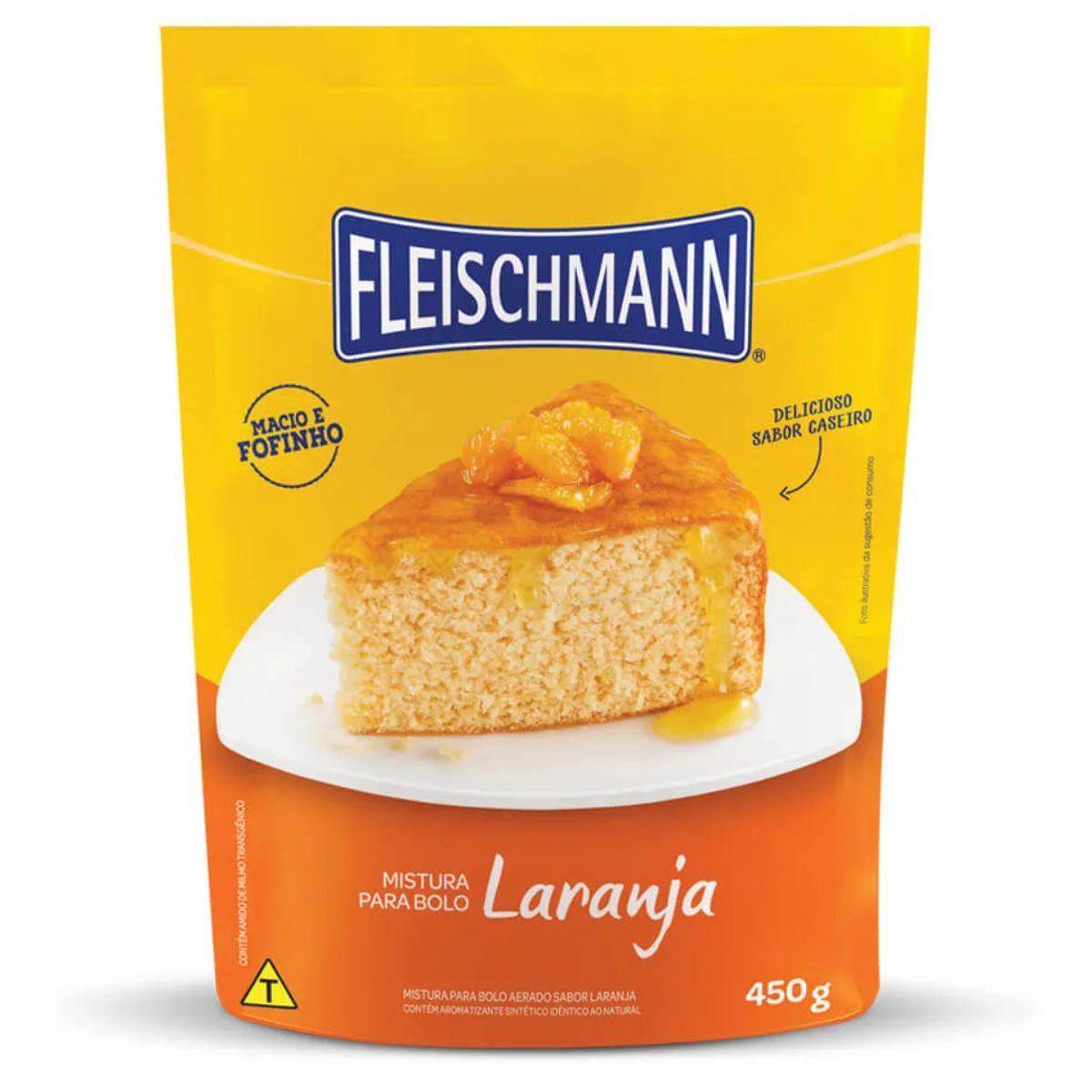 Mistura para Bolo Laranja 450g Fleischmann