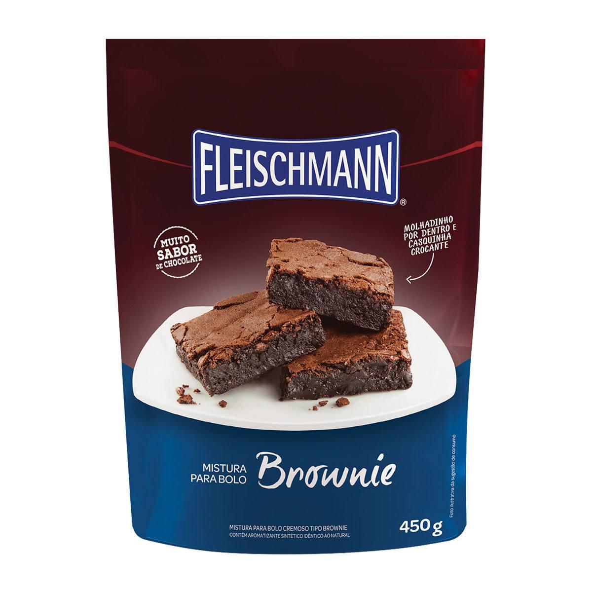 Mistura para Brownie 450g Fleischmann.