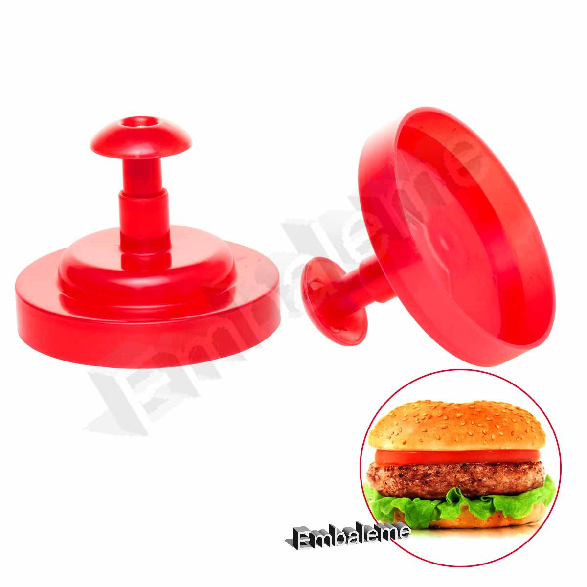 Modelador de Hambúrguer Plástico DECOR-UTIL