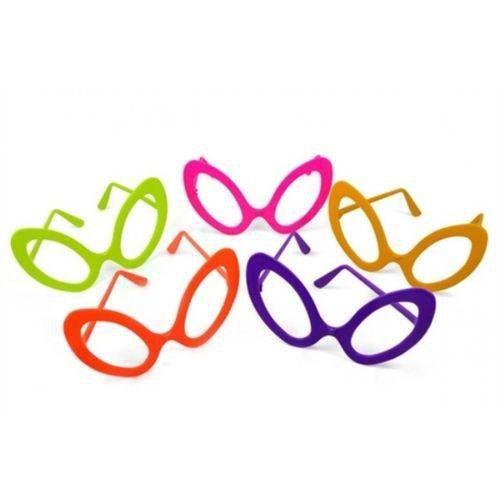 Óculos Plástico Sem Lente Colorido C/10 Unidades