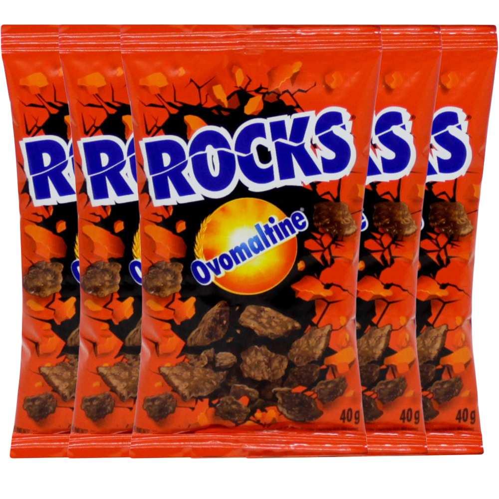 Ovomaltine em flocos Rocks caixa com 18 de 40g