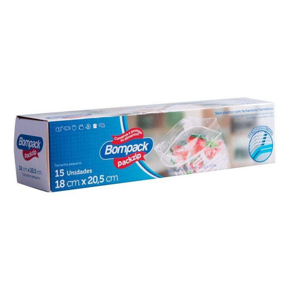 Saco Packzip 18cm x 20,5cm C/15 Bompack