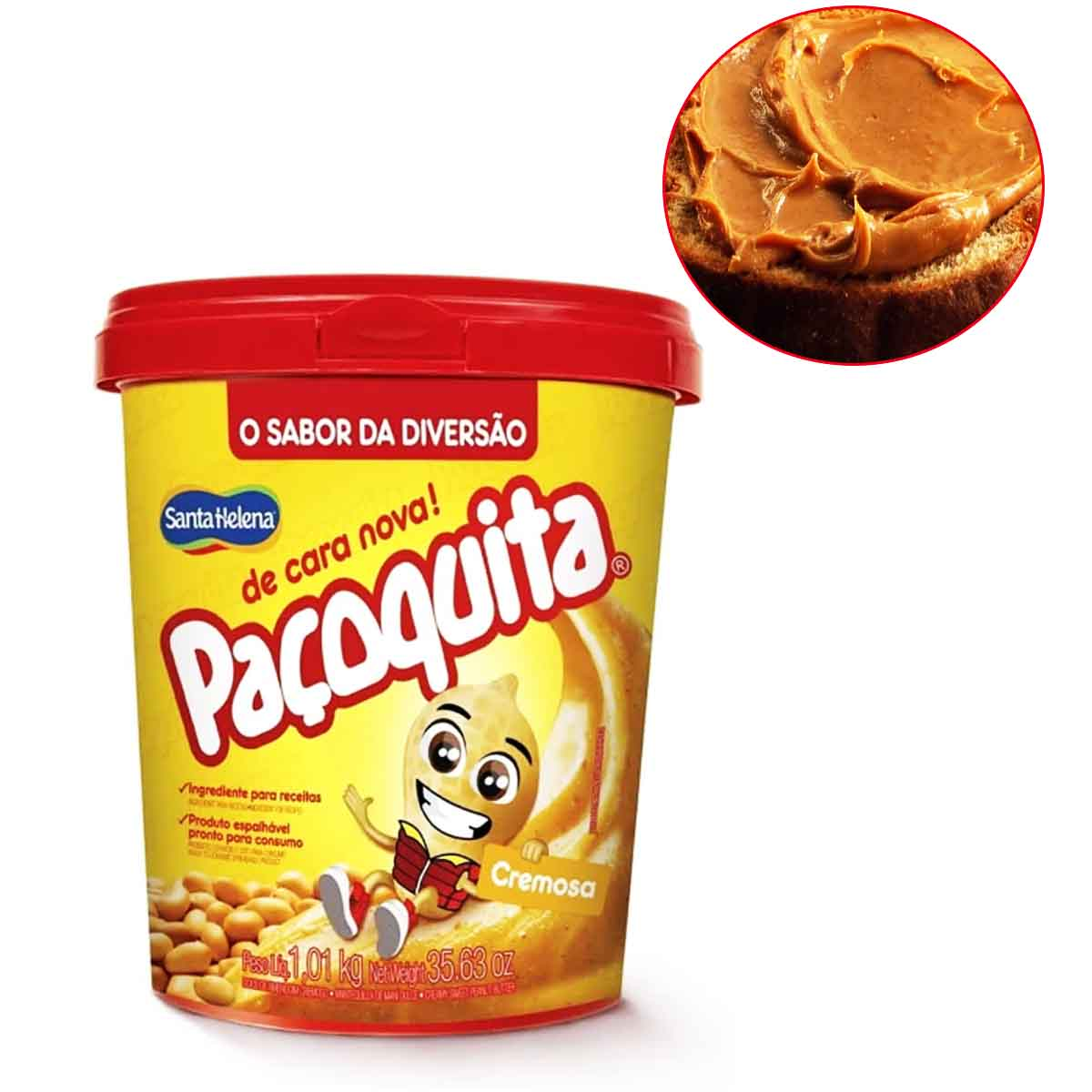 Paçoquita Cremosa Pote 1kg Santa Helena