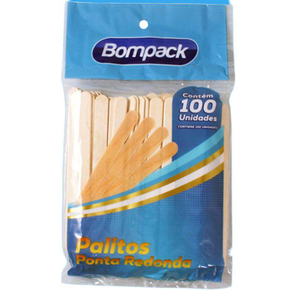 Palito Redondo para Sorvete e Picolé c/100 Bompack