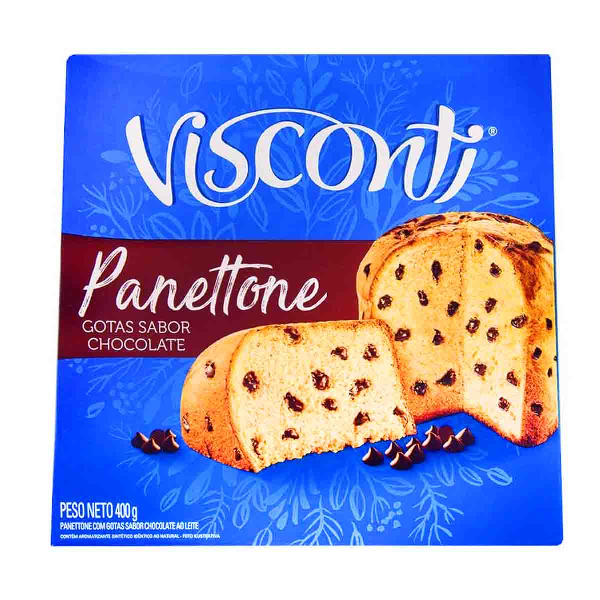 Panetone com gotas de chocolate Chocotone  400G  Visconti