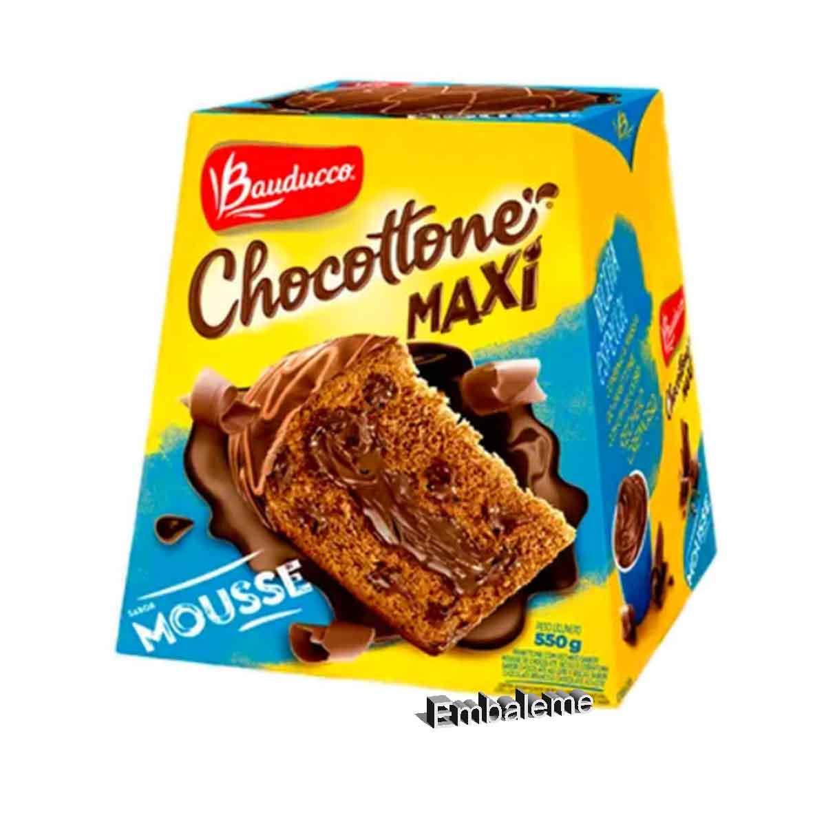 Panetone de chocolate chocotone mousse  500G Bauducco