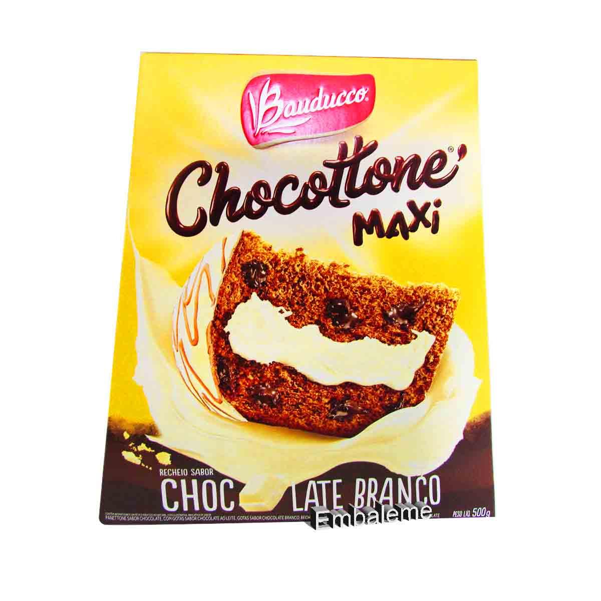 Panetone de Chocolate Chocottone Maxi Chocolate Branco 500G Bauducco