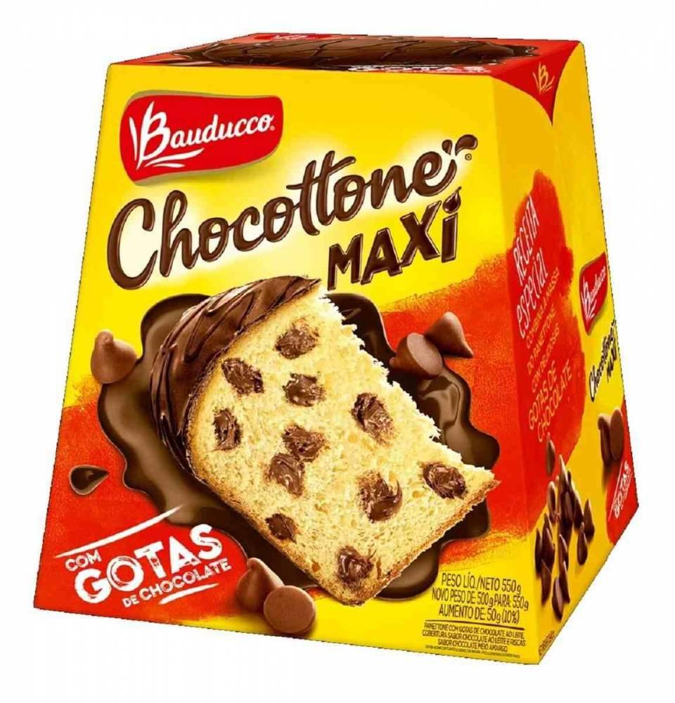 Panetone de Chocolate Chocottone Maxi Com Gotas de Chocolate  500g Bauducco