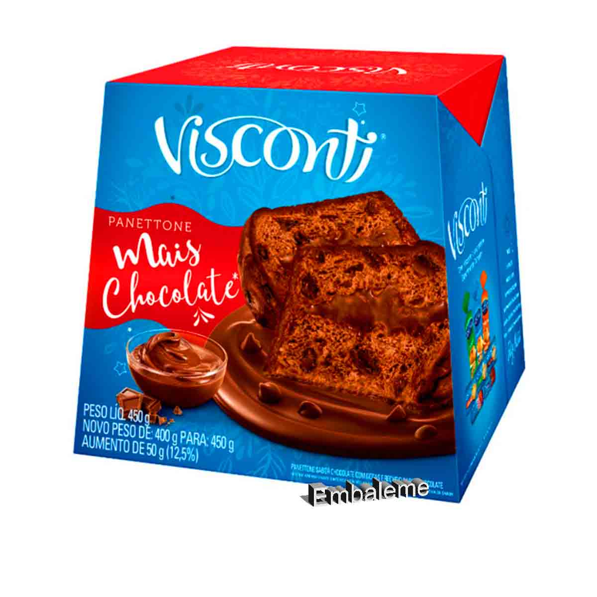 Panetone Mais Chocolate 450G Visconti