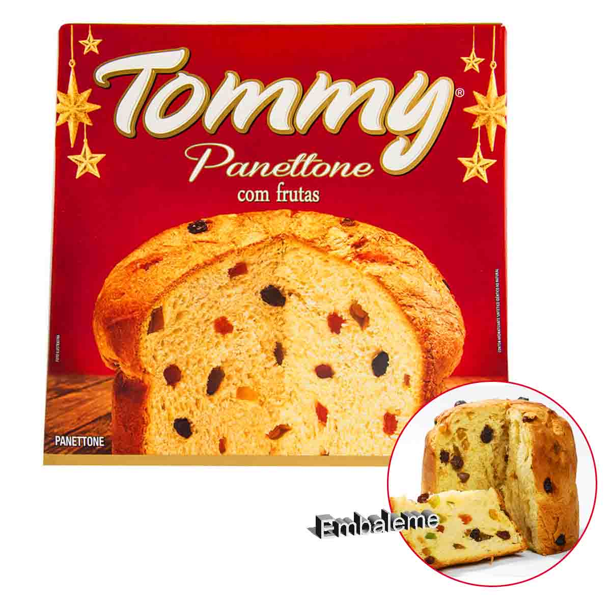 Panetone Tommy Frutas 400G